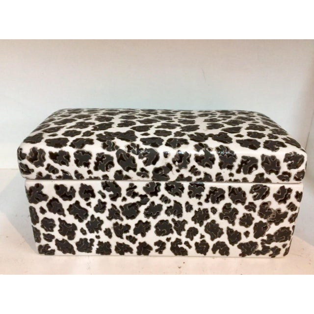 Animal Print Porcelain Black & White Box - Image 5 of 5