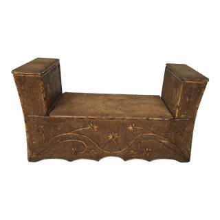 Antique Bamboo Hall Bench For Sale