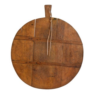 Antique French Pine Charcuterie Bread Cheese Serving Tray Board For Sale