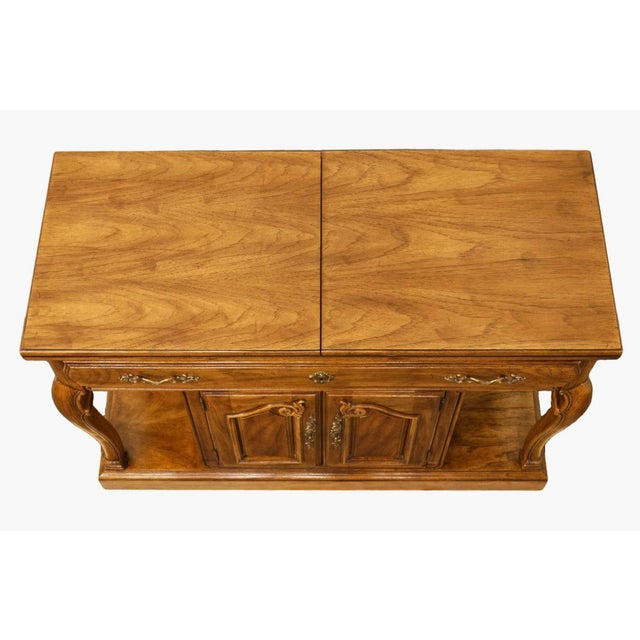"Thomasville Furniture Place Vendome Collection 45"" Flip-Top Server Buffet 13921-510 32"" High 45"" Wide 19"" Deep Leaves..."