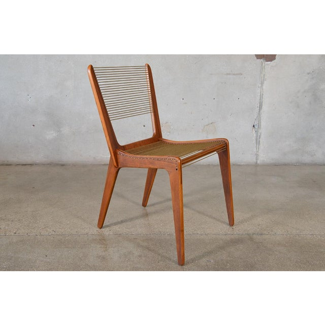 Jacques Guillou Modern String Chairs - Set of 4 - Image 5 of 8