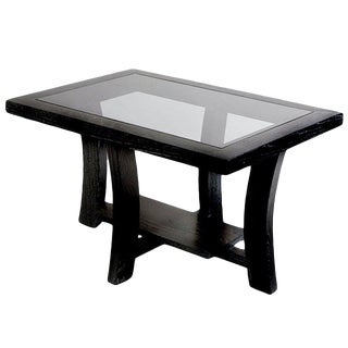 Paul Frankl Black Side Table for Brown Saltman