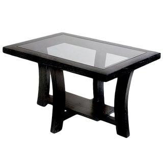 Paul Frankl Black Side Table for Brown Saltman For Sale