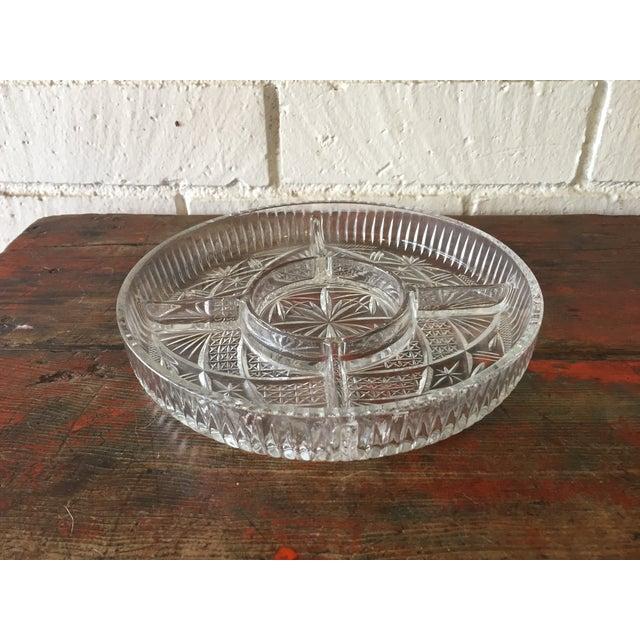 Glass Starburst Appetizer Serving Dish - Image 4 of 5