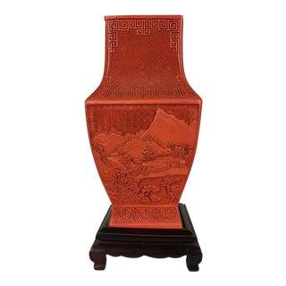 Cinnabar Quadrangular Vase