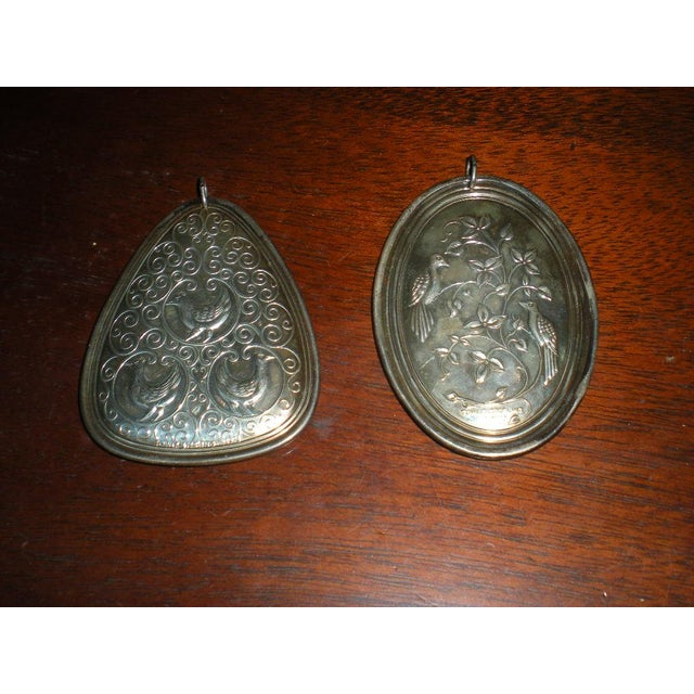 Vintage Towle Sterling Medallions - a Pair For Sale - Image 6 of 6