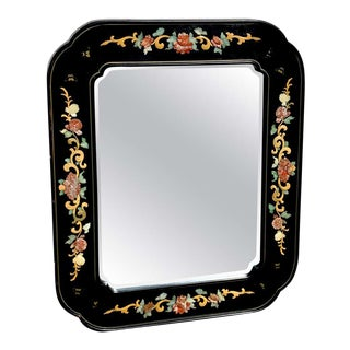 Chinese Export Lacquer and Hardstone Mirror For Sale