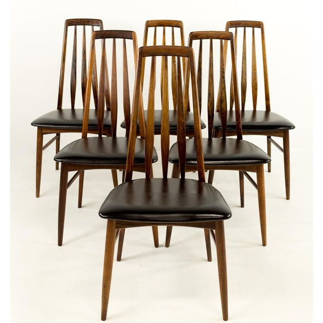 Mid-Century Modern Mid-Century Modern Niels Koefoed Hornslet Rosewood Eva Dining Chairs - Set of 6 For Sale - Image 3 of 12