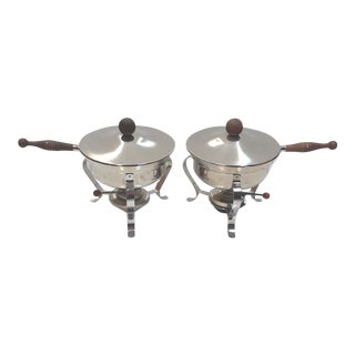 Ernest Sohn Chafing Dishes - A Pair For Sale
