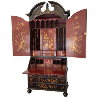 Rose Tarlow Queen Anne Chinoiserie Secretary For Sale