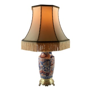 Japanese Imari Porcelain Vase Converted Table Lamp For Sale