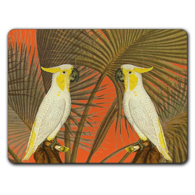 Modern Italian Rectangular Cacatoes Placemat For Sale - Image 3 of 3