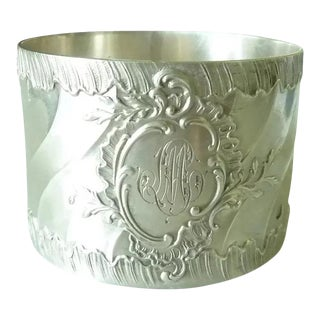 Antique French Louis XV Style Rococo Motifs Sterling Silver Napkin Ring For Sale