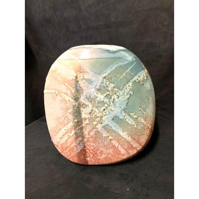 Ceramic Signed Tony Evans Post Modern Pottery Vase For Sale - Image 7 of 7