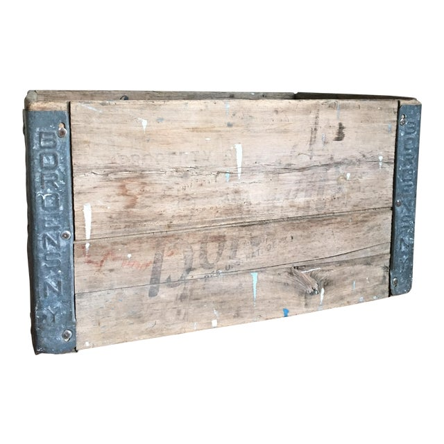Antique Wooden Borden's NY Milk Crate For Sale