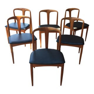 1960s Vintage Johannes Andersen Juliane Dining Chairs- Set of 6 For Sale