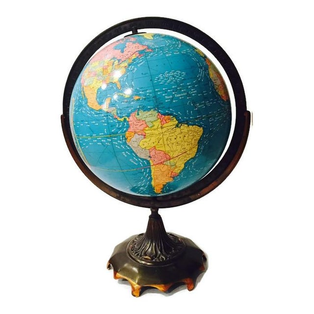 Vintage Cram's Double Axis World Globe - Image 3 of 6