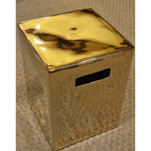Gold Cube Ceramic Stool - Image 2 of 7