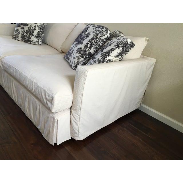 "Crate & Barrel 93"" Slipcover Lounge Sofa - Image 3 of 7"