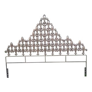 French Fleur De Lis for Thee Cast Iron Fleur De Lis King Headboard For Sale