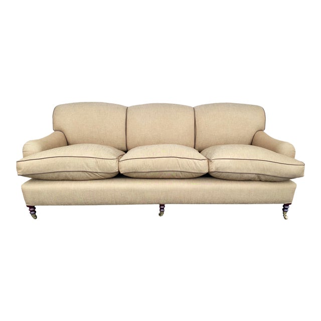 George Smith Standard Arm Sofa For Sale