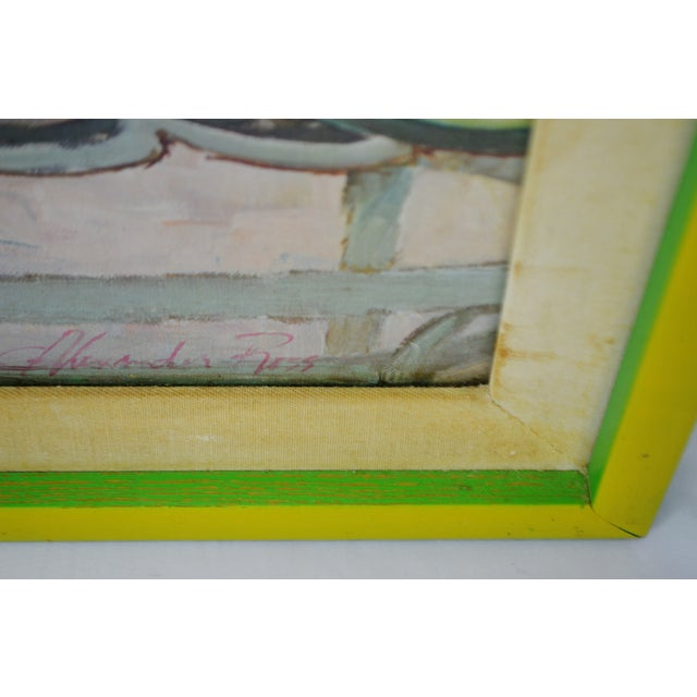 """Mid 20th Century Vintage Framed Alexander Sharpe Ross Print of Watercolor Titled """"Blue Ribbon"""" - Rare For Sale - Image 5 of 11"""