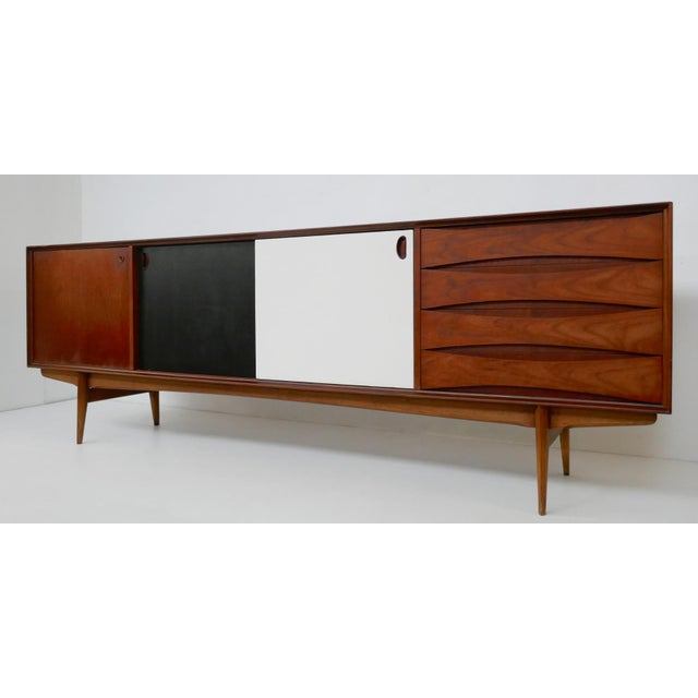 """""""Paola"""" Sideboard by Oswald Vermaercke for V-Form - 1950s For Sale - Image 4 of 7"""