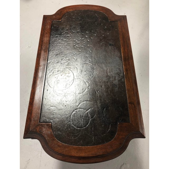 Eastlake Victorian Leather Top Mahogany Hall Table For Sale - Image 12 of 13