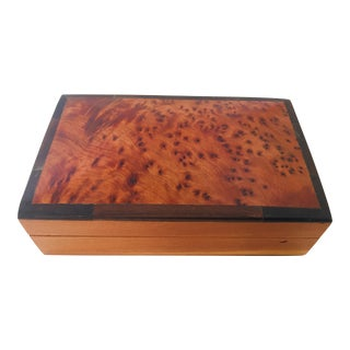 Moroccan Handcrafted Thuya Wood Box For Sale