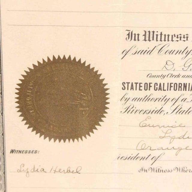 1925 Framed Marriage License For Sale - Image 5 of 7