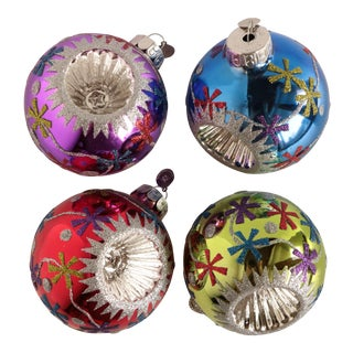 Christopher Radko Reflector Christmas Ornaments - Set of 4 For Sale
