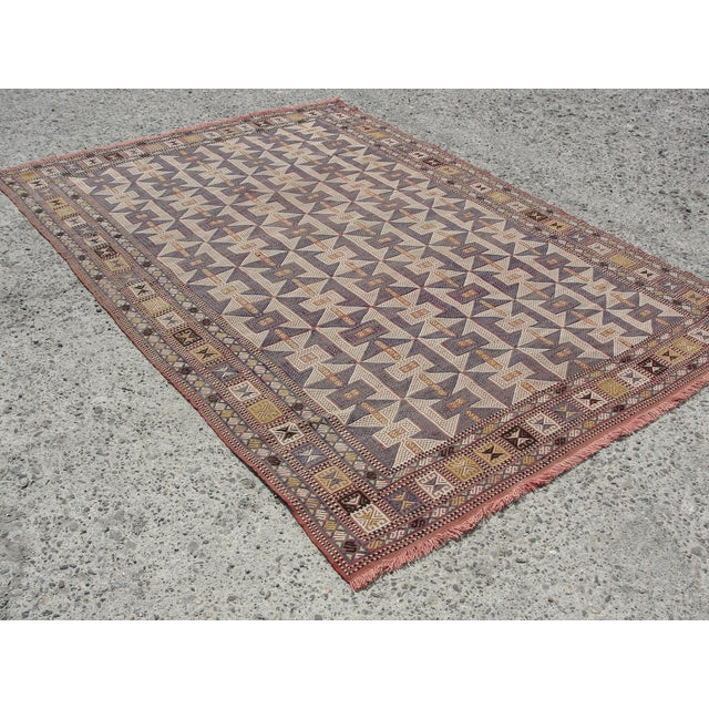 Vintage Turkish Kilim Rug - 6′5″ × 9′6″ - Image 7 of 11