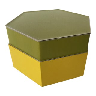 Jonathan Adler Green Hexagon Box For Sale
