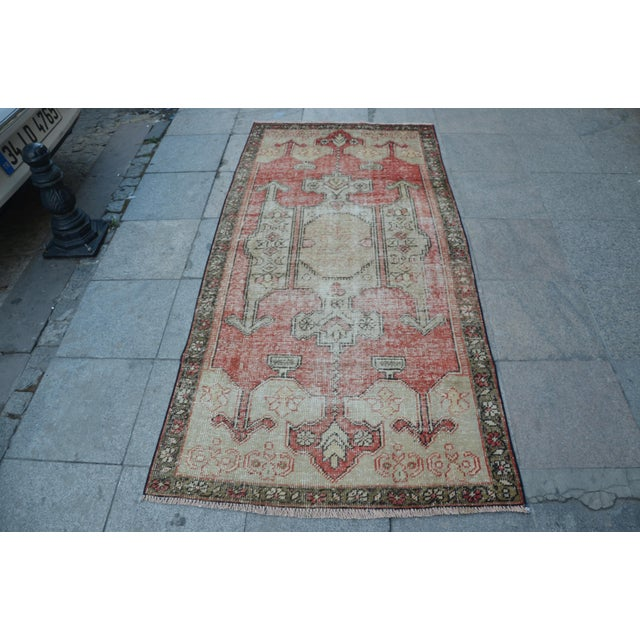 Bohemian Floor Wool Rug - 3′6″ × 7′4″ - Image 2 of 6