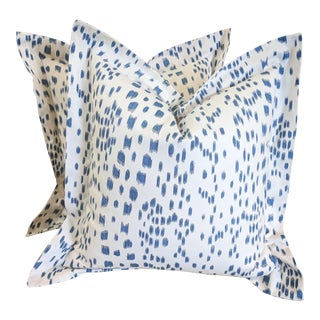 Brunschwig & Fils Les Touches in Blue Pillows - A Pair For Sale
