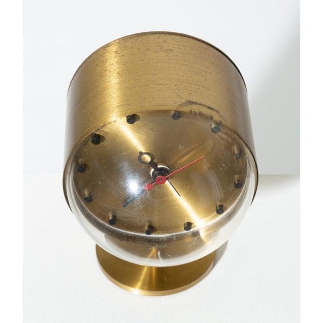 Mid-Century Modern George Nelson Model 4766 Brass Clock for Howard Miller For Sale - Image 3 of 8