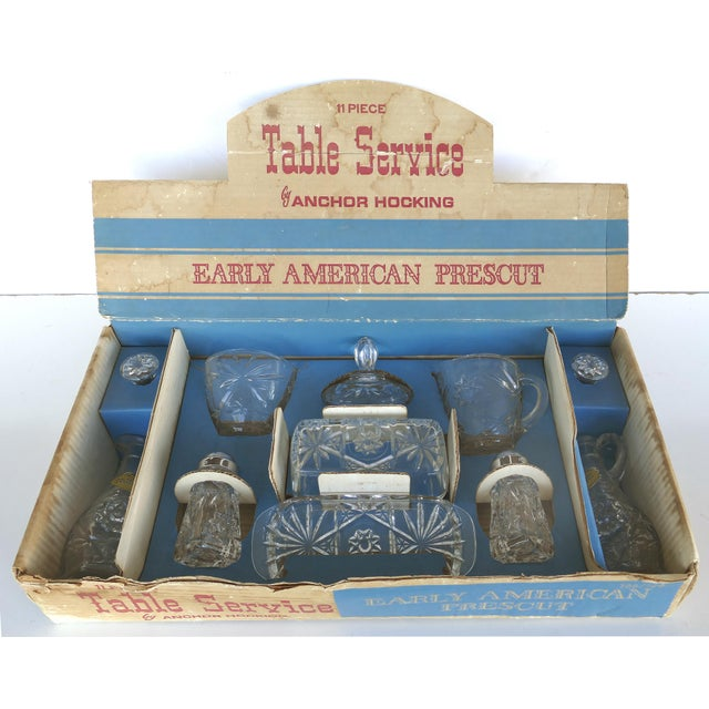 Anchor Hocking Prescut Early American Glass Serving Set-Set of 7 For Sale - Image 9 of 9