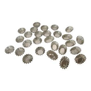Vintage Brass Tart Shells - 30 - Pieces For Sale