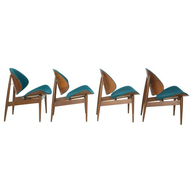 Kodawood Bentwood Clam Teal Chairs - Set of 4 - Image 2 of 10