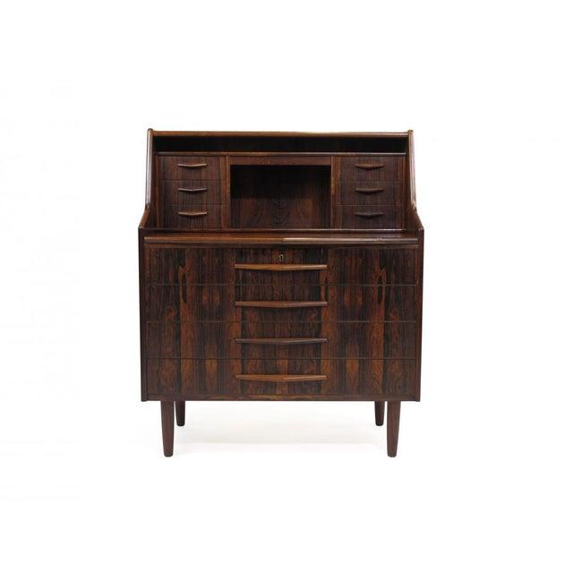 Scandinavian Modern Rosewood Secretary Desk For Sale - Image 9 of 9