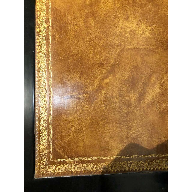 Hollywood Regency Ebony Ladies Desk Louis XV Style Stamped Jansen For Sale - Image 12 of 13