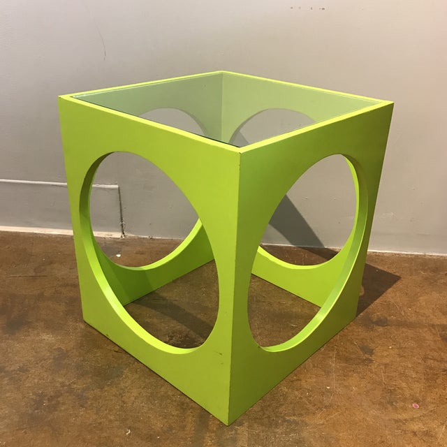 Adrian Pearsall Lime Green Cube Table - Image 3 of 6