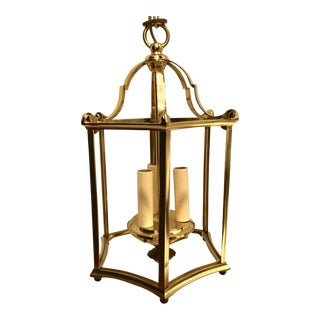 Solid Brass Hall Lantern For Sale