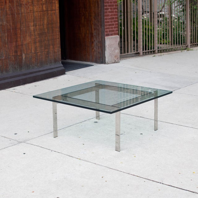 Milo Baughman Chrome & Glass Coffee Table - Image 2 of 6