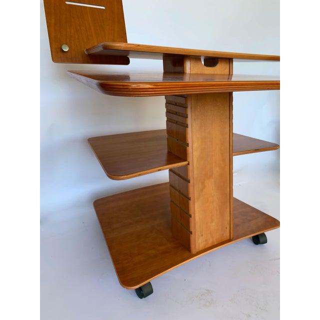 Brown Aksel Kjesgaard of Denmark Teak Mid-Century Adjustable Desk on Casters For Sale - Image 8 of 12