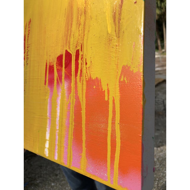 """Abstract """"How Soon Is Now?"""" Oil Painting on Panel by Mirtha Moreno For Sale - Image 3 of 7"""