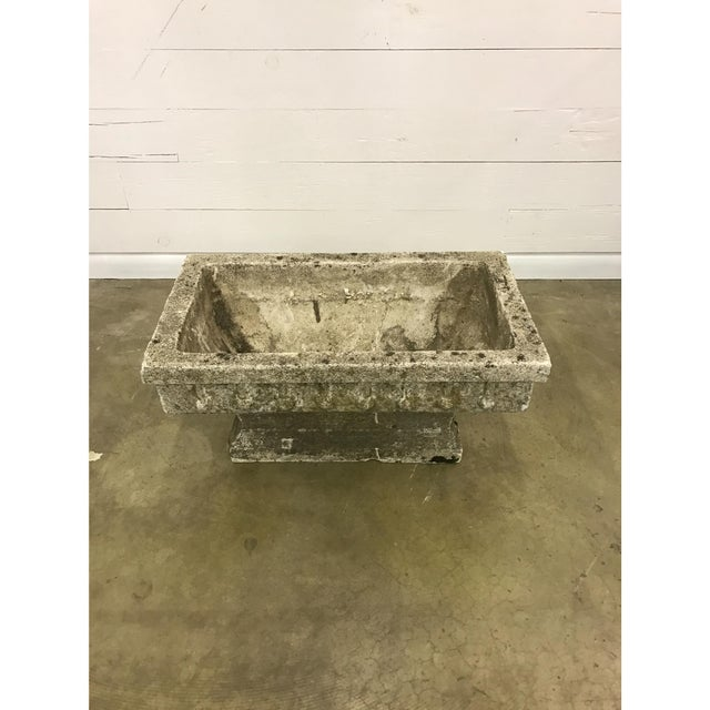 Rectangular Cast Stone Planter - Image 6 of 7