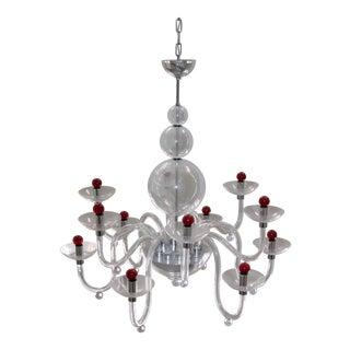 Mid-Century Modern Murano Glass Chandelier For Sale