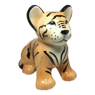 Calif USA Made Ceramic Tiger Cub For Sale