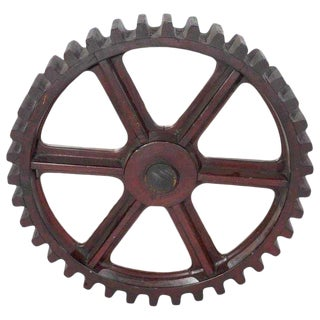 Antique Industrial Cog, Now as a Mirror For Sale